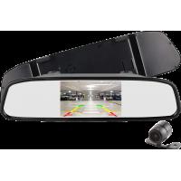 """MK-415 5"""" (inch) Dikiz Aynası Monitörlü Geri Görüş Kamera Seti"""