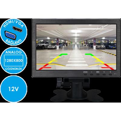 MK-M1050 HDMI/VGA/RCA/BNC Video Girişli 10 inch Monitör