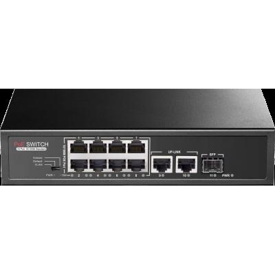 PR-P08MX Promes 8+2 Port PoE Switch + 1 SFP Port