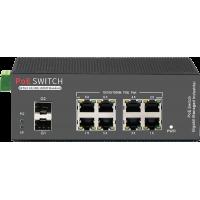 PR-PE08G2S-M-AF Promes 8 Port PoE Switch + 2 SFP Port